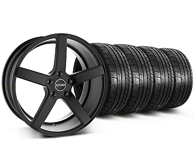 MMD Staggered 551C Black Wheel & Mickey Thompson Tire Kit - 20x8.5/10 (15-17 All)