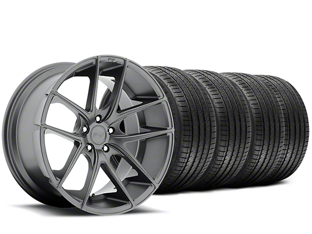 Staggered Niche Targa Matte Anthracite Wheel & Sumitomo Tire Kit - 20x8.5/10 (15-19 All)