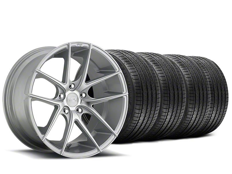 Staggered Niche Targa Matte Silver Wheel & Sumitomo Tire Kit - 20x8.5/10 (15-18 All)