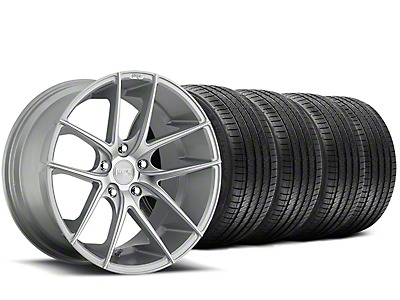 Staggered Niche Targa Matte Silver Wheel & Sumitomo Tire Kit - 20x8.5/10 (15-18 All)
