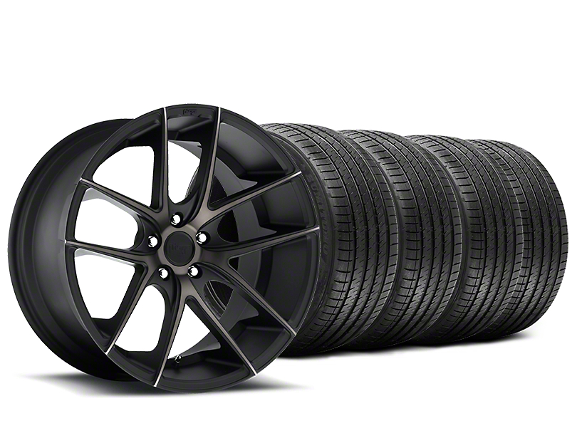 Staggered Niche Targa Black Wheel & Sumitomo Tire Kit - 20x8.5/10 (15-19 All)