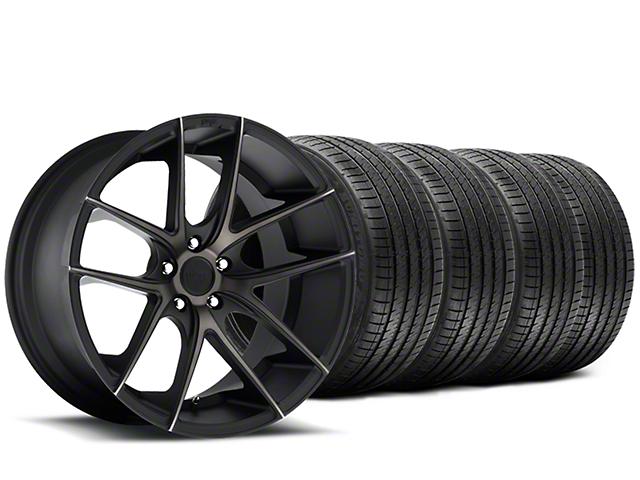 Staggered Niche Targa Black Wheel & Sumitomo Tire Kit - 20x8.5/10 (15-18 All)