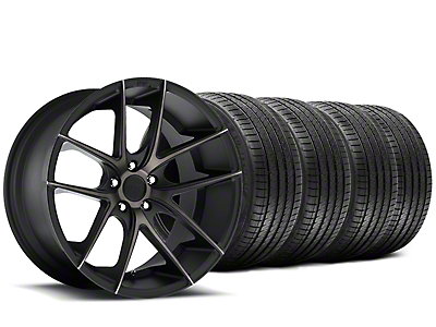 Staggered Niche Targa Black Wheel & Sumitomo Tire Kit - 20x8.5/10 (15-18 All)