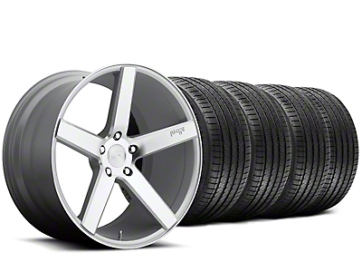 Staggered Niche Milan Silver Wheel & Sumitomo Tire Kit - 20x8.5/10 (15-18 All)