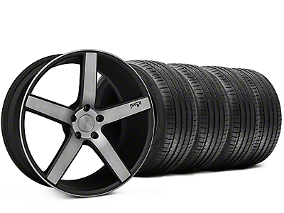 Staggered Niche Milan Matte Black Machined Wheel & Sumitomo Tire Kit - 20x8.5/10 (15-18 All)