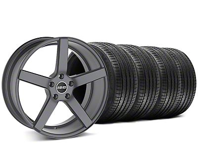 Staggered MMD 551C Charcoal Wheel & Sumitomo Tire Kit - 20x8.5/10 (15-18 GT, EcoBoost, V6)