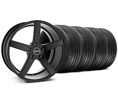 Staggered MMD 551C Black Wheel & Sumitomo Tire Kit - 20x8.5/10 (15-17 GT, EcoBoost, V6)