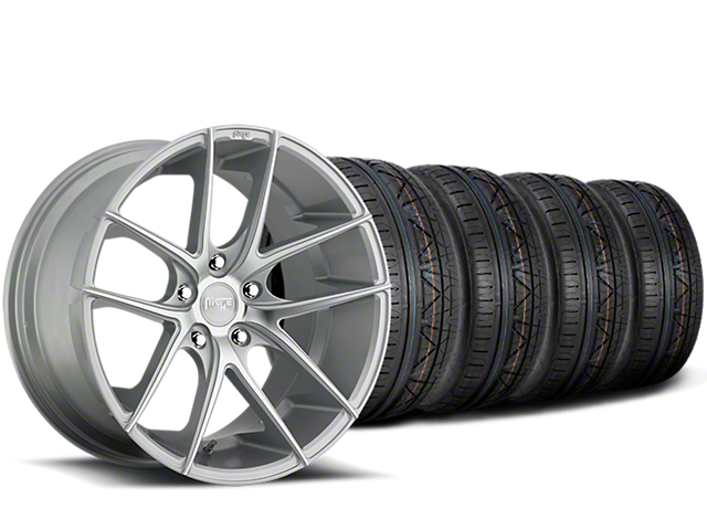 Staggered Niche Targa Matte Silver Wheel & NITTO INVO Tire Kit - 20x8.5/10 (15-19 All)