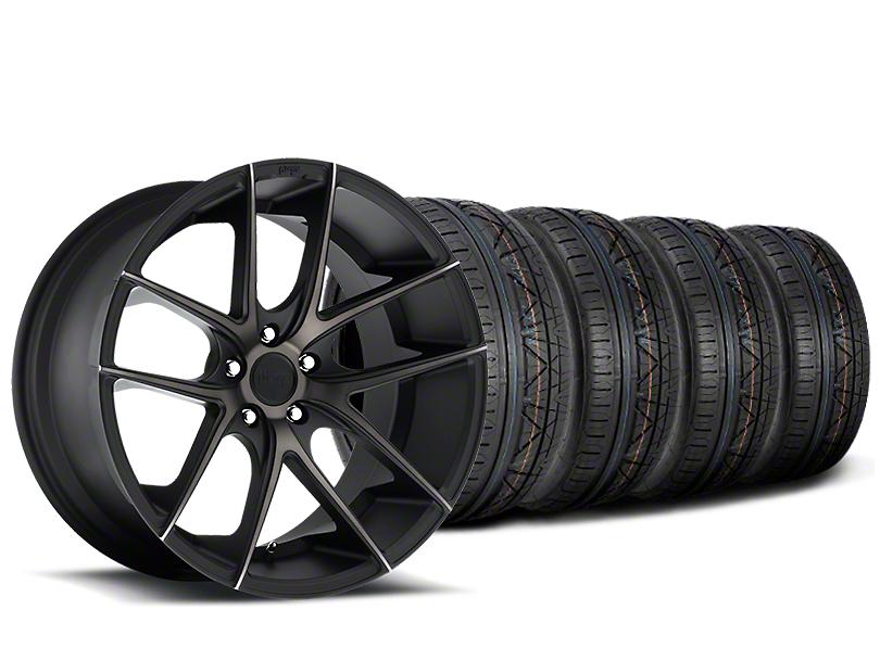 Staggered Niche Targa Black Wheel & NITTO INVO Tire Kit - 20x8.5/10 (15-18 All)