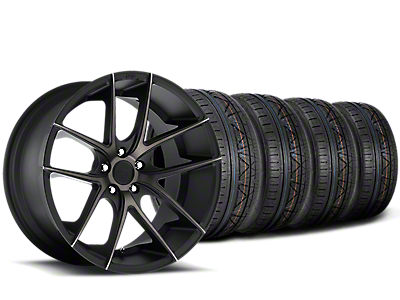 Staggered Niche Targa Black Wheel & NITTO INVO Tire Kit - 20x8.5/10 (15-19 All)