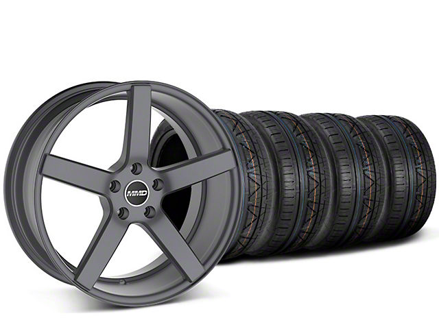 Staggered MMD 551C Charcoal Wheel & NITTO INVO Tire Kit - 20x8.5/10 (15-17 GT, EcoBoost, V6)