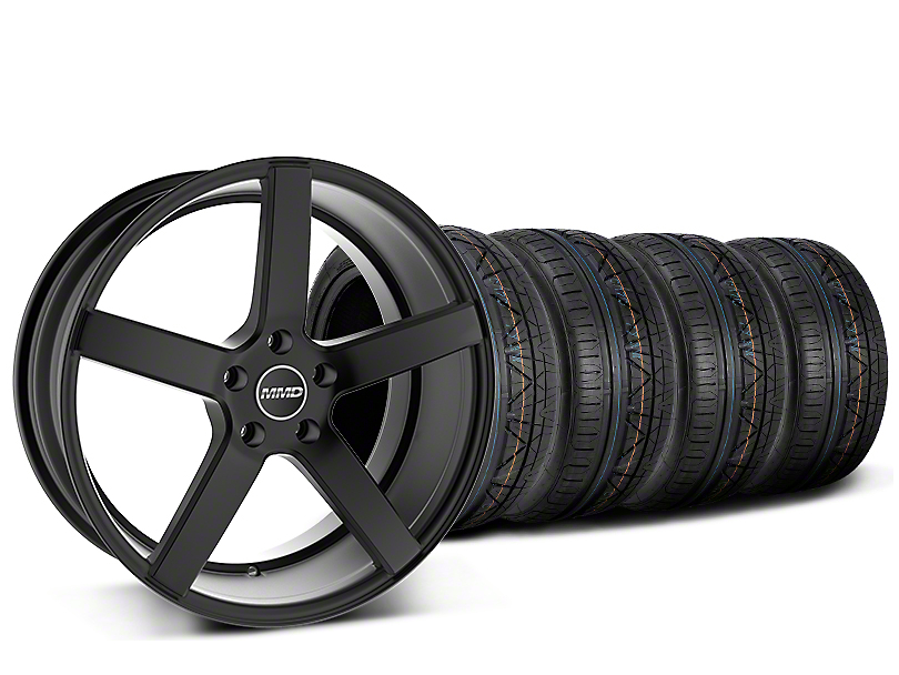 Staggered MMD 551C Black Wheel & NITTO INVO Tire Kit - 20x8.5/10 (15-17 GT, EcoBoost, V6)