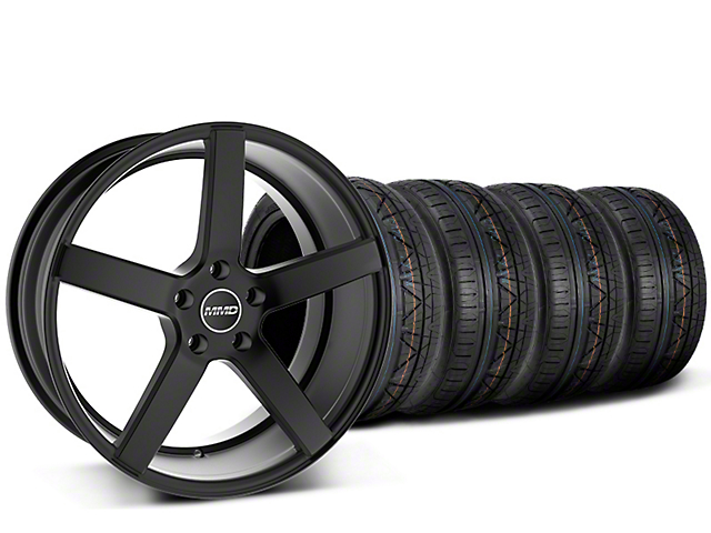 Staggered MMD 551C Black Wheel & NITTO INVO Tire Kit - 20x8.5/10 (15-19 GT, EcoBoost, V6)