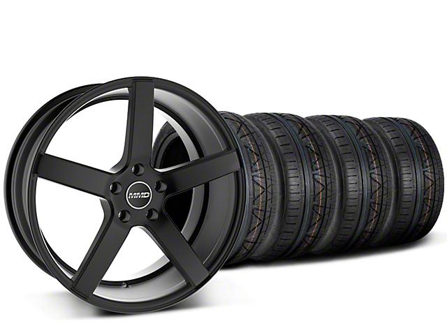 Staggered MMD 551C Black Wheel & NITTO INVO Tire Kit - 20x8.5/10 (15-18 GT, EcoBoost, V6)