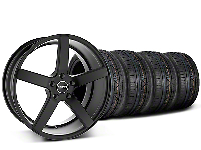 Staggered MMD 551C Black Wheel & NITTO INVO Tire Kit - 20x8.5/10 (15-18 GT, EcoBoost, V6)