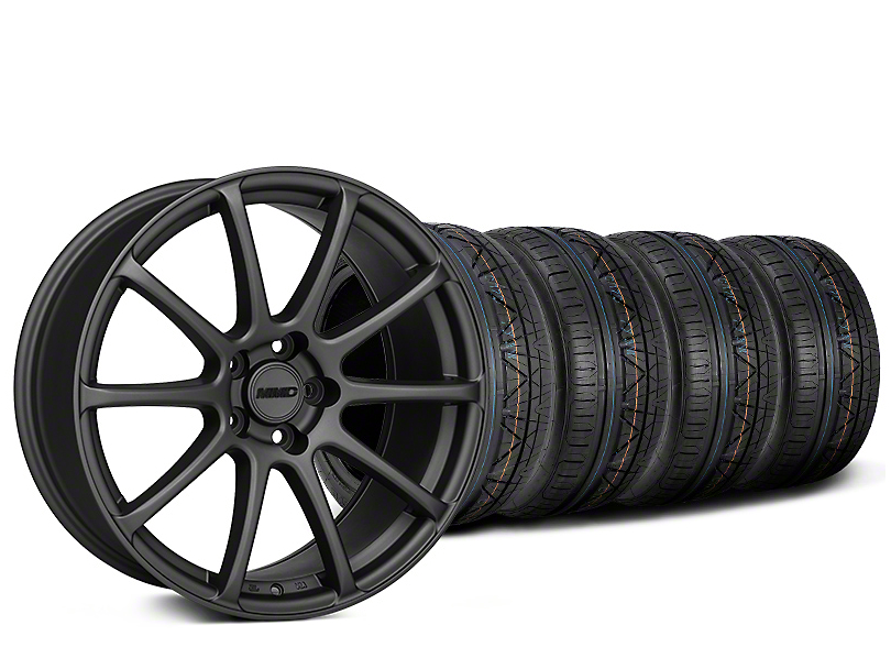 MMD Axim Charcoal Wheel & NITTO INVO Tire Kit - 20x8.5 (15-18 GT, EcoBoost, V6)