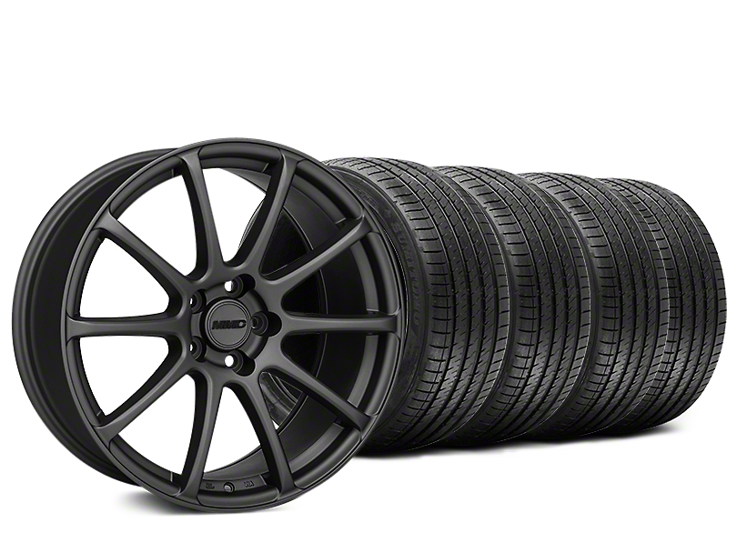 MMD Axim Charcoal Wheel & Sumitomo Tire Kit - 20x8.5 (15-18 GT, EcoBoost, V6)