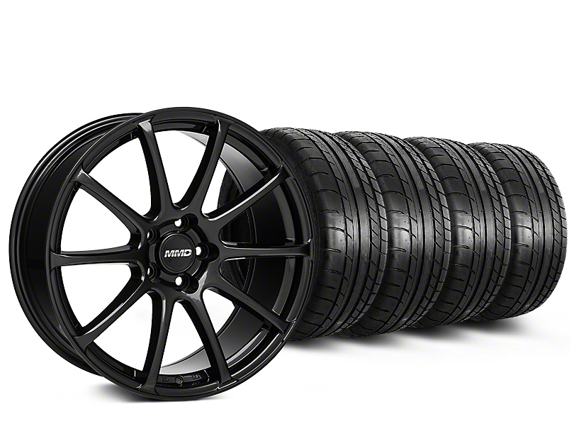 MMD Axim Gloss Black Wheel & Mickey Thompson Tire Kit - 20x8.5 (15-18 GT, EcoBoost, V6)
