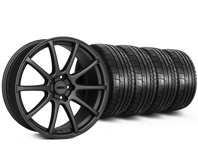 MMD Axim Charcoal Wheel & Mickey Thompson Tire Kit - 20x8.5 (15-19 GT, EcoBoost, V6)
