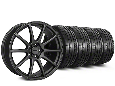 Staggered MMD Axim Charcoal Wheel & Mickey Thompson Tire Kit - 20 in. - 2 Rear Options (15-19 GT, EcoBoost, V6)