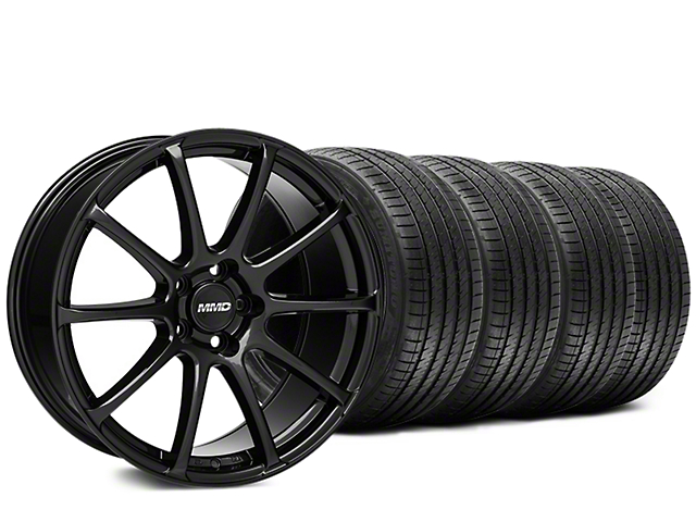 Staggered MMD Axim Gloss Black Wheel & Sumitomo Tire Kit - 20x8.5/10 (15-17 All)