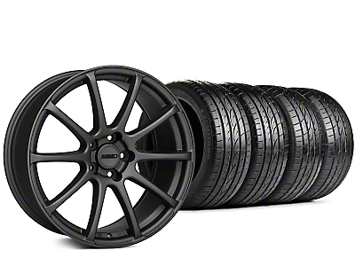 Staggered MMD Axim Charcoal Wheel & Sumitomo Tire Kit - 20x8.5/10 (15-19 GT, EcoBoost, V6)