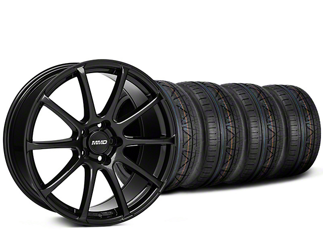 Staggered MMD Axim Gloss Black Wheel & NITTO INVO Tire Kit - 20x8.5/10 (15-18 GT, EcoBoost, V6)