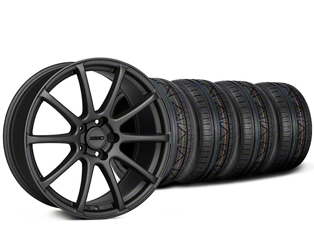 Staggered MMD Axim Charcoal Wheel & NITTO INVO Tire Kit - 20x8.5/10 (15-19 GT, EcoBoost, V6)