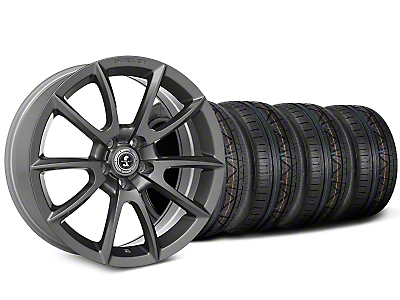 Shelby Super Snake Style Charcoal Wheel & NITTO INVO Tire Kit - 20x9 (15-18 All)