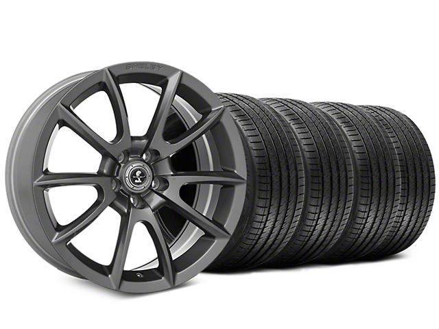 Shelby Super Snake Style Charcoal Wheel & Sumitomo Tire Kit - 20x9 (15-19 GT, EcoBoost, V6)