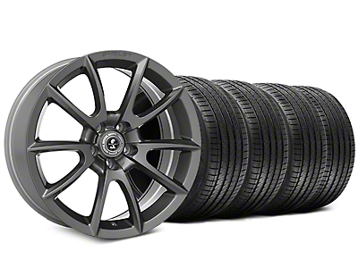 Shelby Super Snake Style Charcoal Wheel & Sumitomo Tire Kit - 20x9 (15-18 GT, EcoBoost, V6)