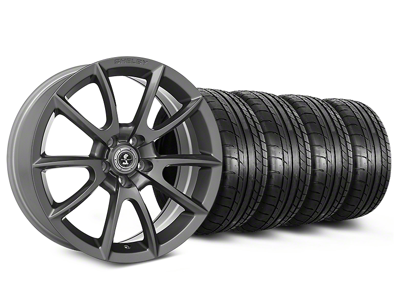 Shelby Super Snake Style Charcoal Wheel & Mickey Thompson Tire Kit - 20x9 (15-19 All)