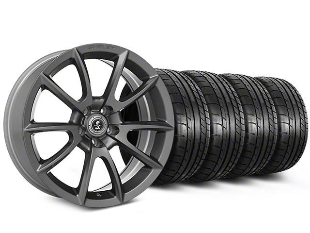 Shelby Super Snake Style Charcoal Wheel & Mickey Thompson Tire Kit - 20x9 (15-18 All)