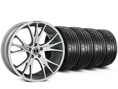 Shelby CS1 Hyper Silver Wheel & Mickey Thompson Tire Kit - 20x9 (15-17 All)