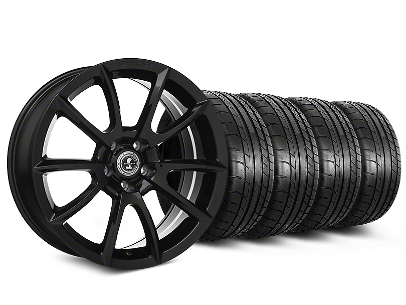 Staggered Shelby Super Snake Style Black Wheel & Mickey Thompson Tire Kit - 20 in. - 2 Rear Options (15-17 All)