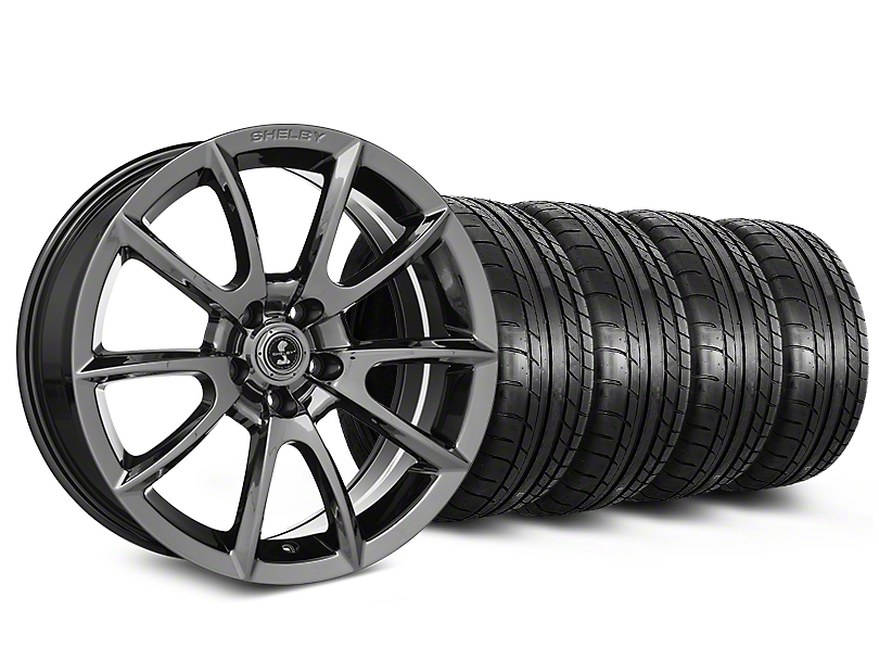 Staggered Shelby Super Snake Style Chrome Wheel & Mickey Thompson Tire Kit - 20 in. - 2 Rear Options (15-18 All)