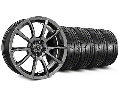 Staggered Shelby Super Snake Style Chrome Wheel & Mickey Thompson Tire Kit - 20 in. - 2 Rear Options (15-19 All)