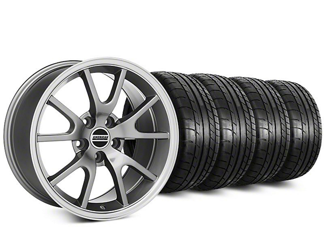 Staggered FR500 Style Anthracite Wheel & Mickey Thompson Tire Kit - 20 in. - 2 Rear Options (15-19 All)