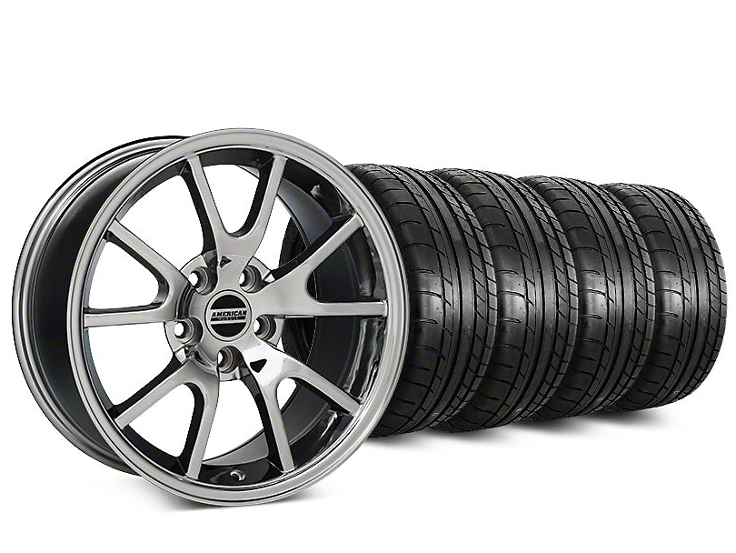 Staggered FR500 Style Chrome Wheel & Mickey Thompson Tire Kit - 20 in. - 2 Rear Options (15-18 All)