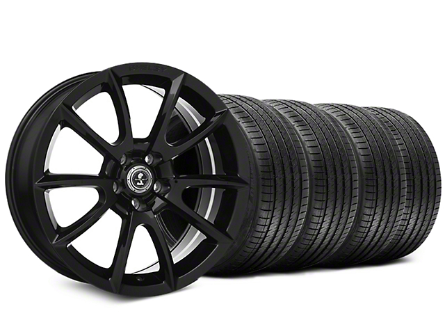Staggered Shelby Super Snake Style Black Wheel & Sumitomo Tire Kit - 20x9/10 (15-19 All)