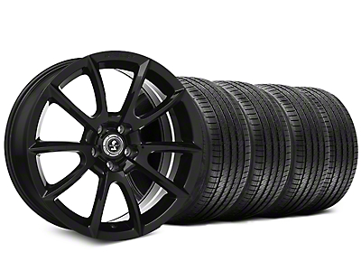 Staggered Shelby Super Snake Style Black Wheel & Sumitomo Tire Kit - 20x9/10 (15-17 All)