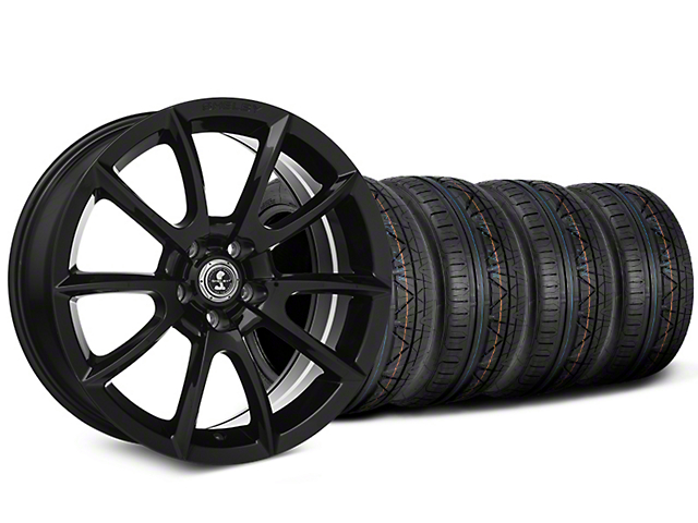 Staggered Shelby Super Snake Style Black Wheel & NITTO INVO Tire Kit - 20x9/10 (15-18 All)