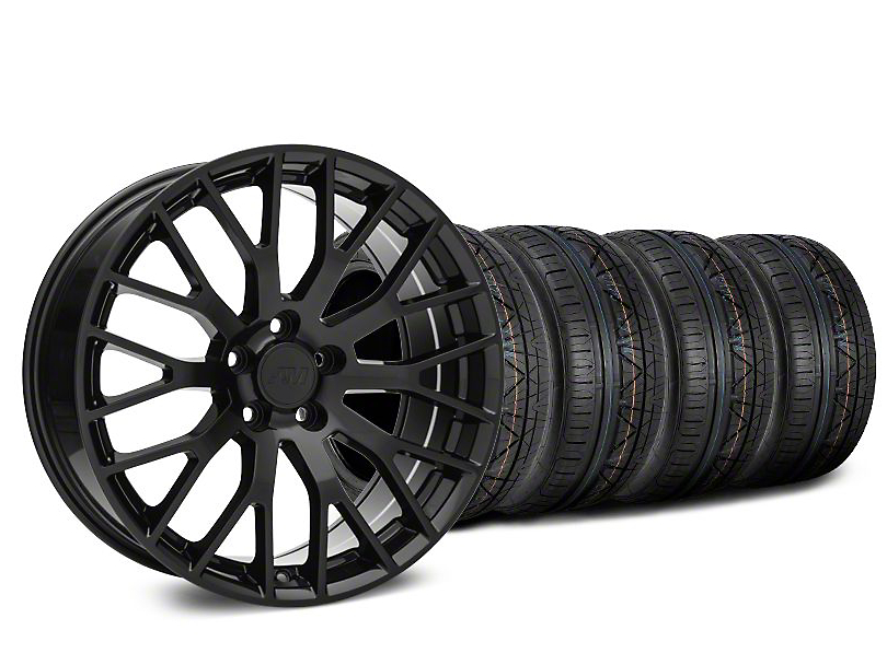 Performance Pack Style Black Wheel & NITTO INVO Tire Kit - 20x8.5 (15-18 GT, EcoBoost, V6)