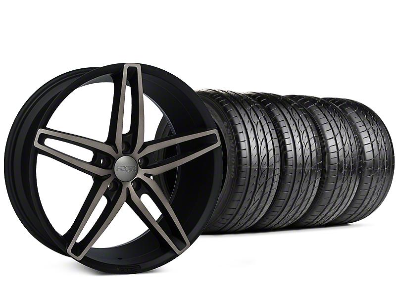 Foose Stallion Double Dark Wheel & Sumitomo Tire Kit - 20x8.5 (15-17 All)