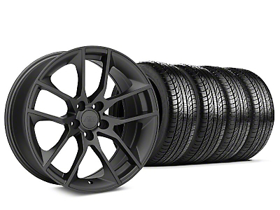 Staggered Magnetic Style Charcoal Wheel & Pirelli Tire Kit - 19x8.5/10 (15-19 GT, EcoBoost, V6)