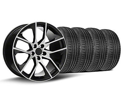Staggered Magnetic Style Black Machined Wheel & Sumitomo Tire Kit - 19x8.5 (15-18 GT, EcoBoost, V6)