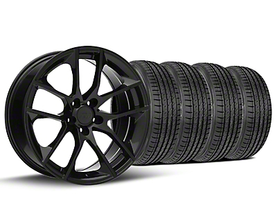 Staggered Magnetic Style Black Wheel & Sumitomo Tire Kit - 19x8.5/10 (15-18 GT, EcoBoost, V6)
