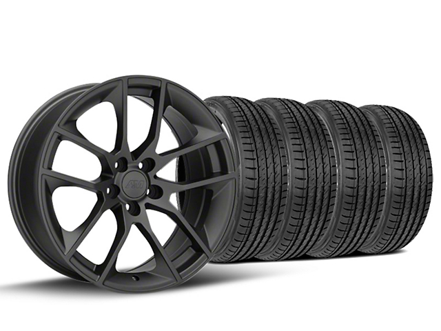 Staggered Magnetic Style Charcoal Wheel & Sumitomo Tire Kit - 19x8.5/10 (15-18 GT, EcoBoost, V6)