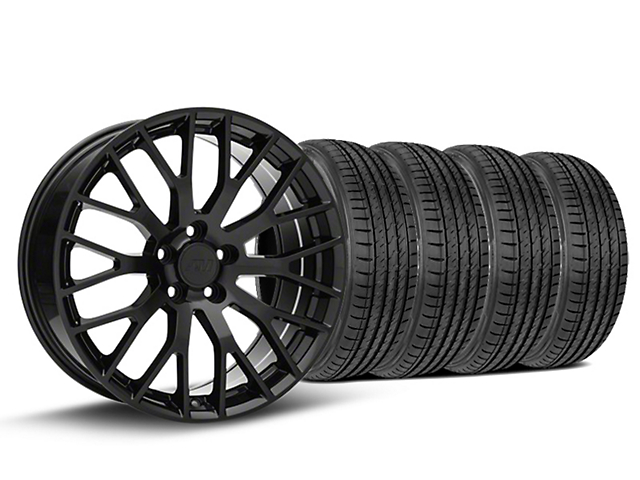Staggered Performance Pack Style Black Wheel & Sumitomo Tire Kit - 19x8.5 (15-18 All)