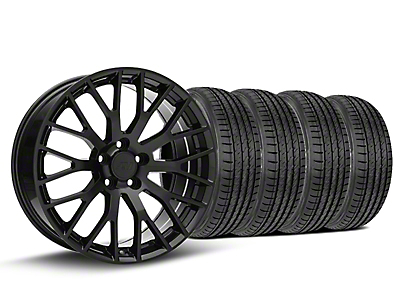Staggered Performance Pack Style Black Wheel & Sumitomo Tire Kit - 19x8.5 (15-18 GT, EcoBoost, V6)